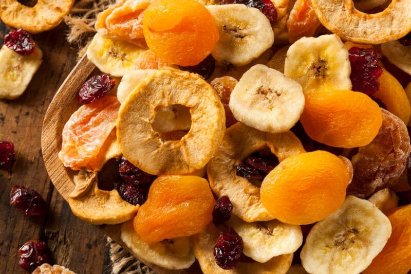 Frutas y verduras deshidratadas