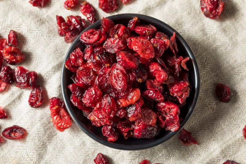 Arándanos rojos deshidratados